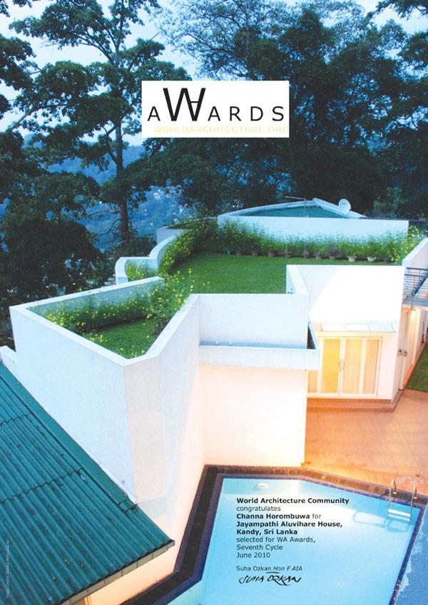 Archt Channa Horombuwa Wins World Architecture Community