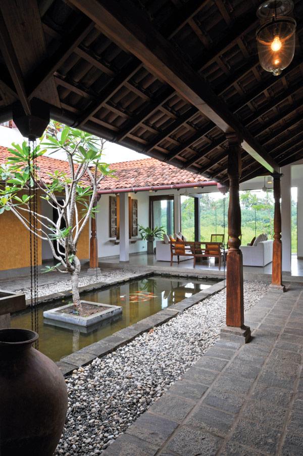 Residence in rajagiriya striking a balance the architect for Indoor garden designs in sri lanka